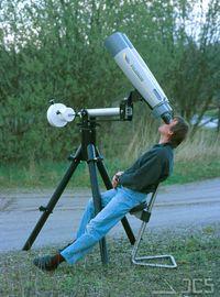 Fujinon 25x150 MT, Geradeeinblick, auf ICS-Schwenkarmmontierung