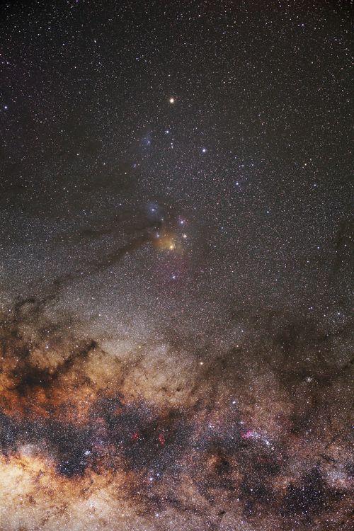 Milchstraßenzentrum im Bereich des Sternbild Skorpion fotografiert mit der Star Adventurer Reisemontierung von SkyWatcher