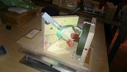 Optik Vermessungstisch von Wolfgang Rohr beim Astrofest 2016 bei Intercon Spacetec